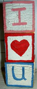 "children's blocks: I ""heart"" you"