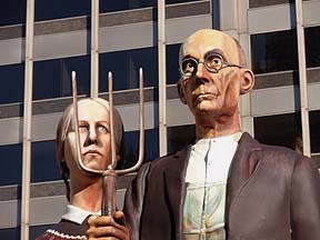"sculpture of ""American Gothic"""
